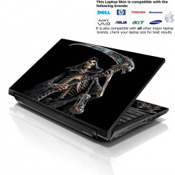 Notebook / Netbook Skin Cover Decal – Reaper Skull