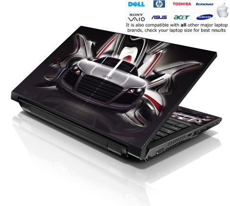 Notebook / Netbook Skin Cover Decal – Audi R8