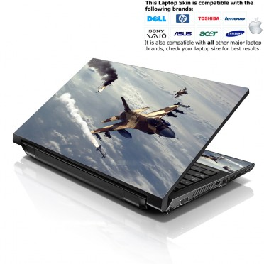 Notebook / Netbook Skin Cover Decal – Plane Attack