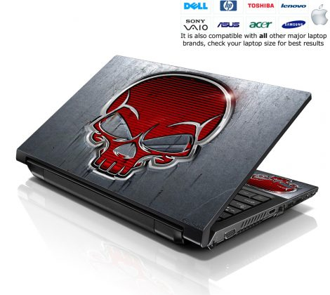 Notebook / Netbook Skin Cover Decal – Red Skull