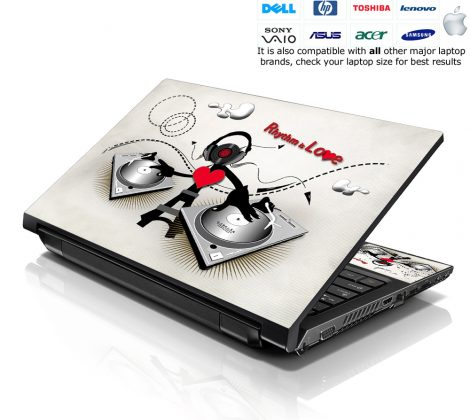 Notebook / Netbook Skin Cover Decal – DJ