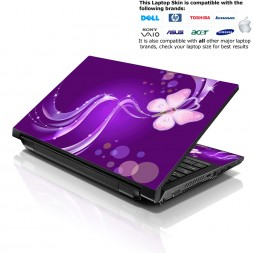 Notebook / Netbook Skin Cover Decal – Purple Butterfly