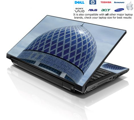 Notebook / Netbook Skin Cover Decal – Blue Dome