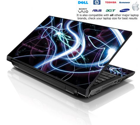 Notebook / Netbook Skin Cover Decal – Brain Activity