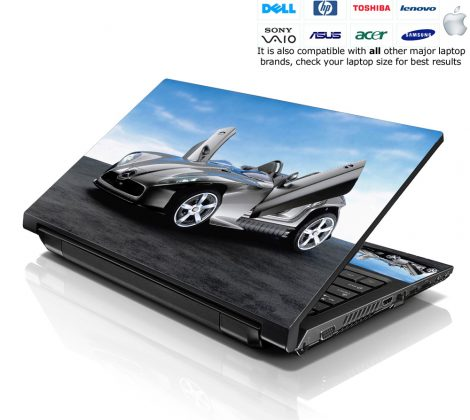 Notebook / Netbook Skin Cover Decal – Mercedes Race Car