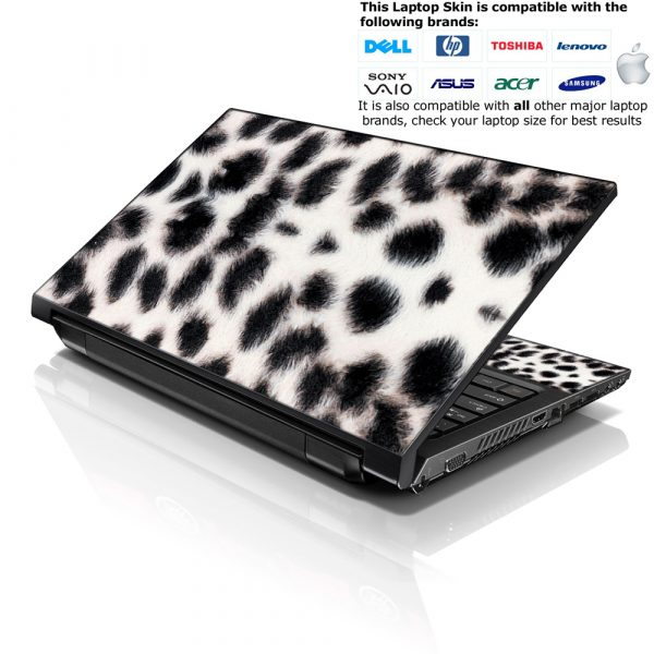 Notebook / Netbook Skin Cover Decal – White Cat Print