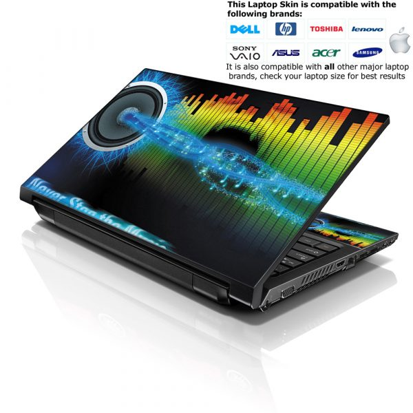 Notebook / Netbook Skin Cover Decal – Musical Vibes