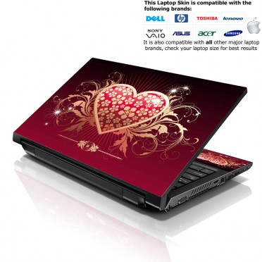Notebook / Netbook Skin Cover Decal – Sparkling Heart