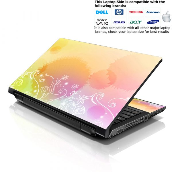 Notebook / Netbook Skin Cover Decal – Abstract Flowers