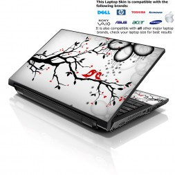 Notebook / Netbook Skin Cover Decal – Lovebirds Eye Catching