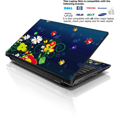 Notebook / Netbook Skin Cover Decal – Ocean Fish