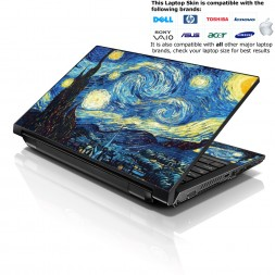 Notebook / Netbook Skin Cover Decal – Van Gogh Starry Night