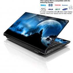 Notebook / Netbook Skin Cover Decal – Wolf at Night