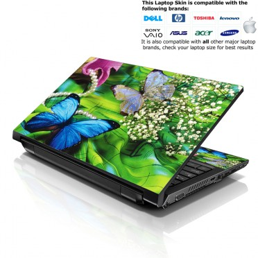 Notebook / Netbook Skin Cover Decal – Spring Butterfly
