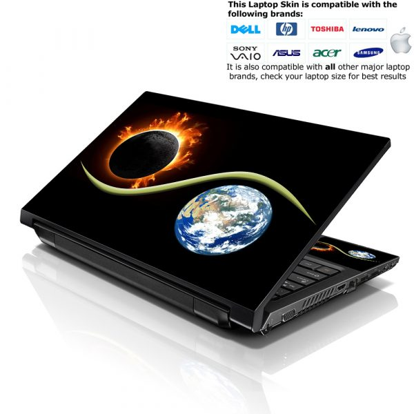 Notebook / Netbook Skin Cover Decal – Earth & Moon