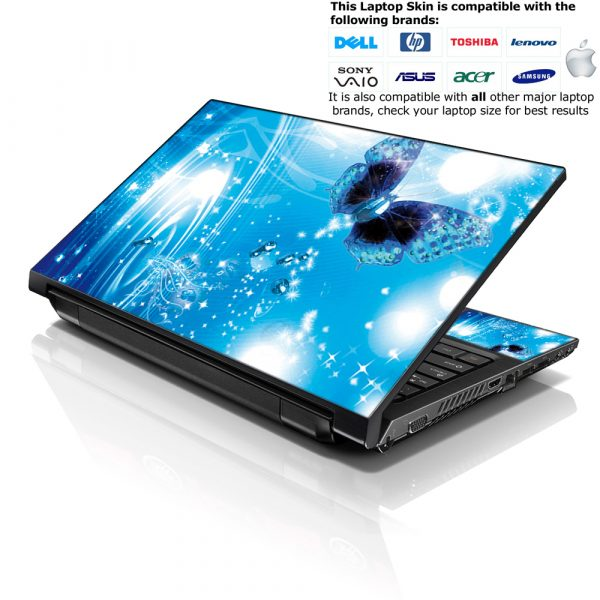 Notebook / Netbook Skin Cover Decal – Water Butterfly