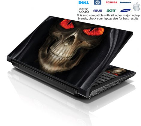 Notebook / Netbook Skin Cover Decal – Hooded Skull Lord