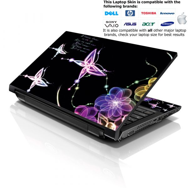 Notebook / Netbook Skin Cover Decal – Abstract Floral