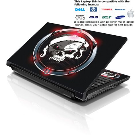 Notebook / Netbook Skin Cover Decal – Circle Skull