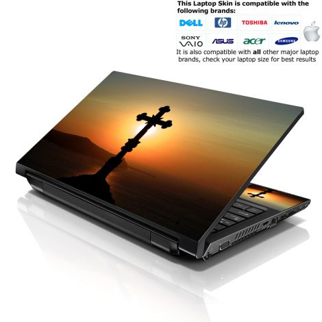 Notebook / Netbook Skin Cover Decal – Black Cross