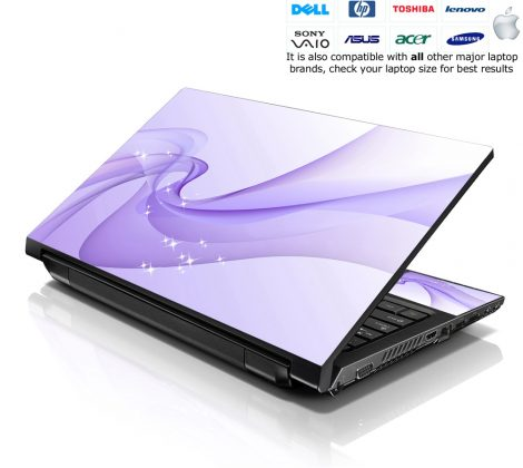 Notebook / Netbook Skin Cover Decal – Blue Abstract