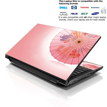 Notebook / Netbook Skin Cover Decal – Chinese Umbrella