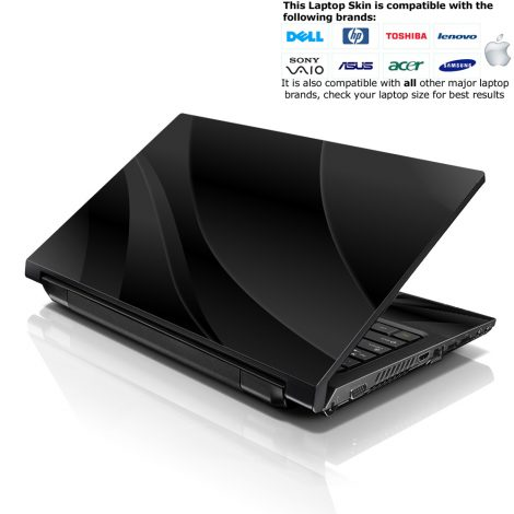 Notebook / Netbook Skin Cover Decal – Black Waves