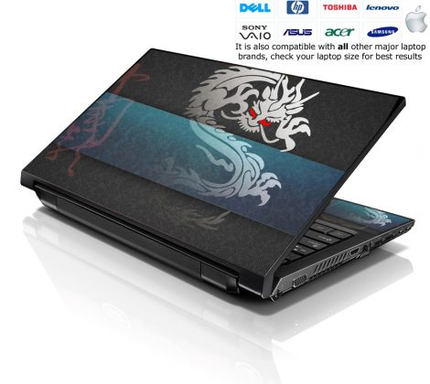 Notebook / Netbook Skin Cover Decal – Cool Dragon