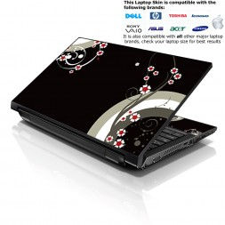 Notebook / Netbook Skin Cover Decal – Lonely Red Flowers