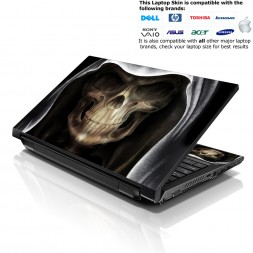 Notebook / Netbook Skin Cover Decal – Hooded Skull