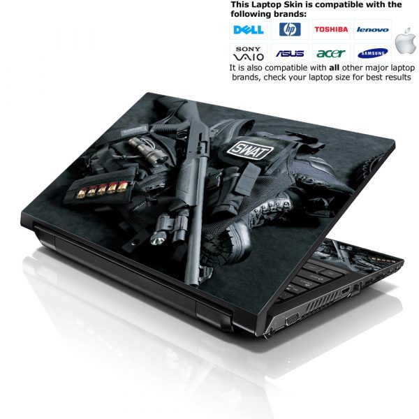 Notebook / Netbook Skin Cover Decal – Swat Weapons