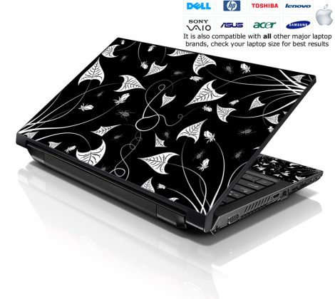 Notebook / Netbook Skin Cover Decal – Gothic Floral