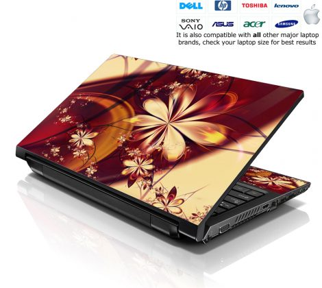 Notebook / Netbook Skin Cover Decal – Flower Floral