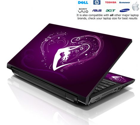 Notebook / Netbook Skin Cover Decal – Purple Heart