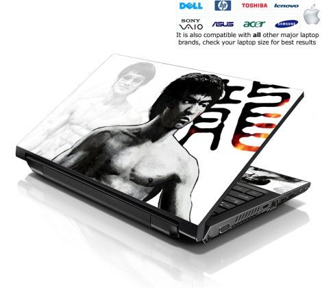 Notebook / Netbook Skin Cover Decal – Bruce Lee