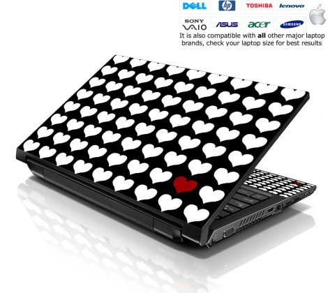 Notebook / Netbook Skin Cover Decal – One In A Million Hearts