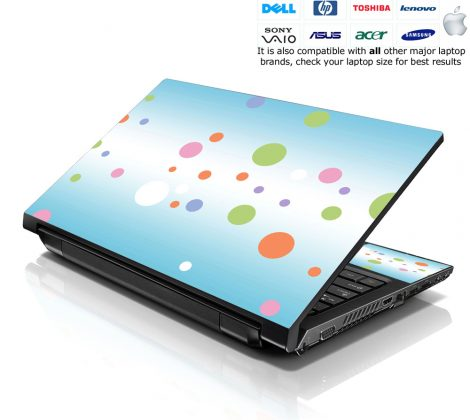 Notebook / Netbook Skin Cover Decal – Colorful Dots