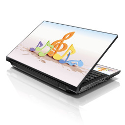Notebook / Netbook Skin Cover Decal – Musical Notes