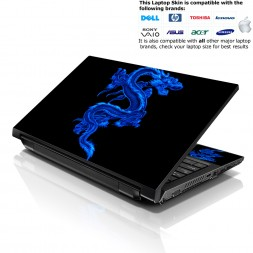 Notebook / Netbook Skin Cover Decal – Blue Dinosaur