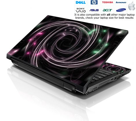Notebook / Netbook Skin Cover Decal – Tornado Effect