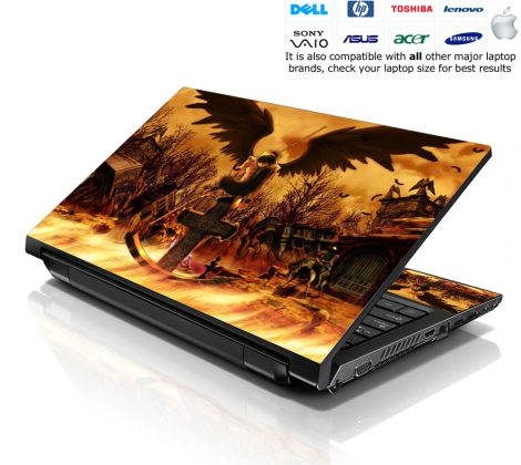 Notebook / Netbook Skin Cover Decal – Cross Grave