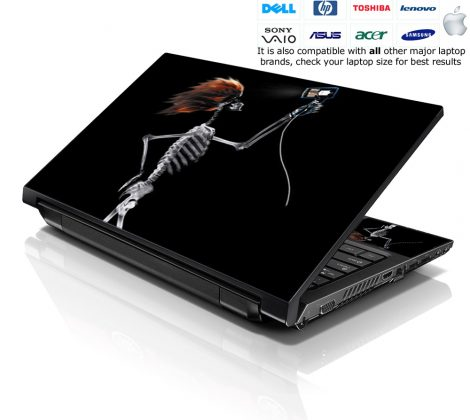 Notebook / Netbook Skin Cover Decal – Skull with Red Hair