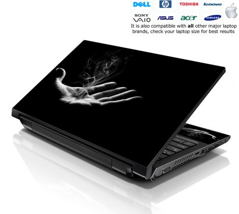 Notebook / Netbook Skin Cover Decal – Smoking Hand