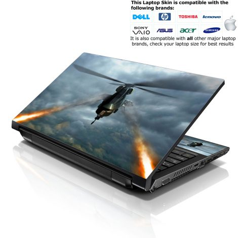 Notebook / Netbook Skin Cover Decal – Firing Military Plane