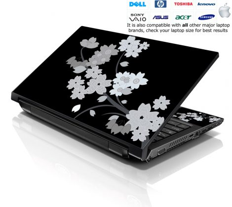 Notebook / Netbook Skin Cover Decal – Plain Floral
