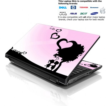 Notebook / Netbook Skin Cover Decal – Love Night Heart