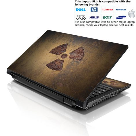 Notebook / Netbook Skin Cover Decal – Nuclear Sign