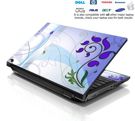 Notebook / Netbook Skin Cover Decal – Spring Abstract