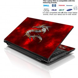 Notebook / Netbook Skin Cover Decal – Red Dragon