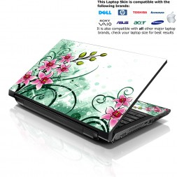 Notebook / Netbook Skin Cover Decal – Pink Flower Floral